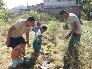 Aaron Thomas Planting Trees in Rio de Janeiro