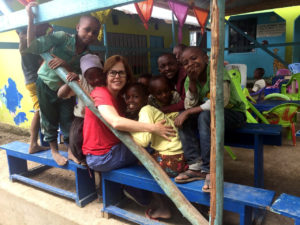 Childcare volunteering at orphanages: Nadir with the children in Tanzania