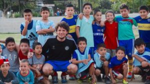 Matt with his young team in Buenos Aires