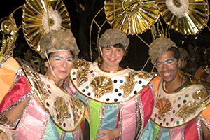 Volunteers with carnival costumes of one of the Special Projects