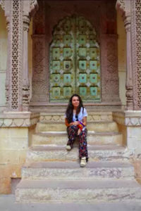 Lea enjoying Jaipur