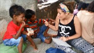 Lea teaching English in India