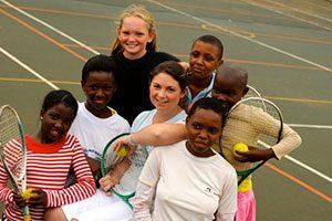 Sportunterricht in Südafrika