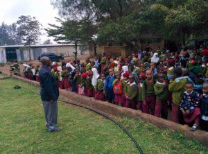 Yair teaching at school in Tanzania