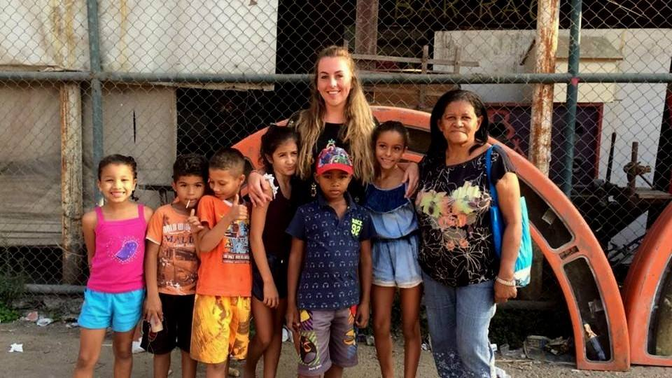 Volunteer in Brazil with children at the child development program