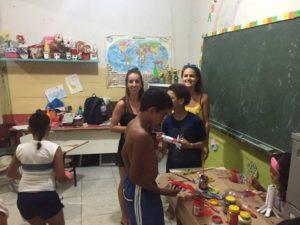 Katrijn volunteering on child development in Rio