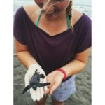 Paige volunteering with the Sea Turtles in Costa Rica