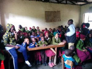Yair teaching in Tanzania