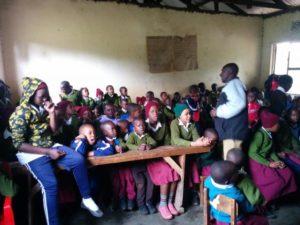 Yair teaching in Tanzania
