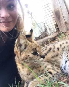 Unforgettable Experience in South Africa - Camille with a leopard