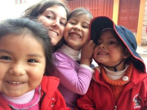 Adriana at the Kindergarten in Peru
