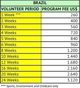 Brazil Fees