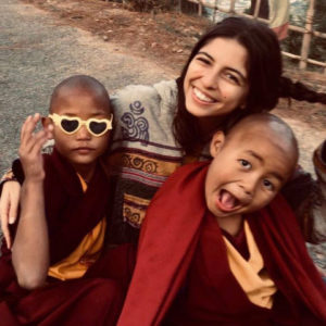 Ana Margarida volunteering at a Buddhist Monastery in Nepal