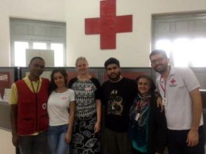 Volunteers together with hospital staff in a volunteer program in Rio de Janeiro