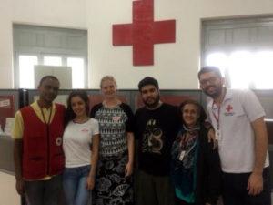 Ana Norleyne - trabalho voluntário no Hospital no Rio