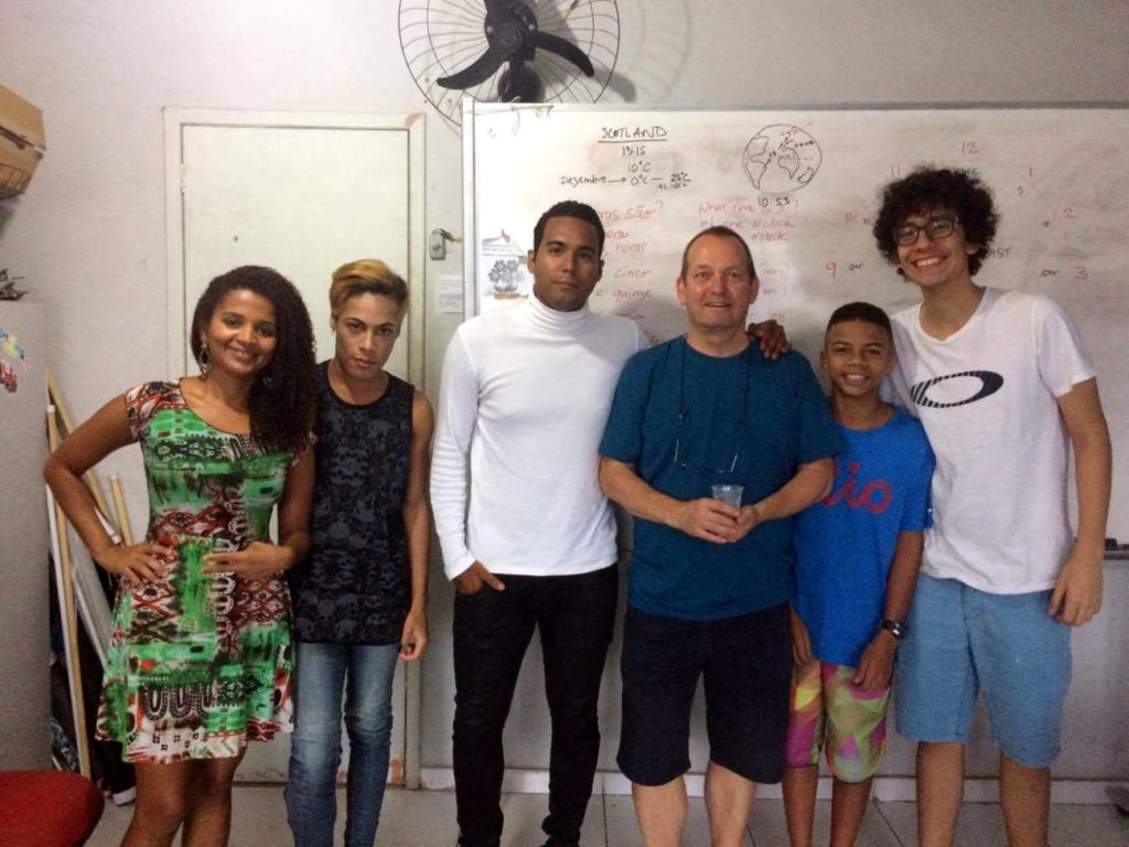 Bob Matt with his English Class in Rio