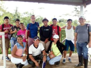 Marco and his English students in Padre Cocha, Amazon