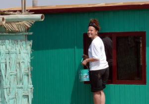Construção: Pintando uma casa em Arequipa