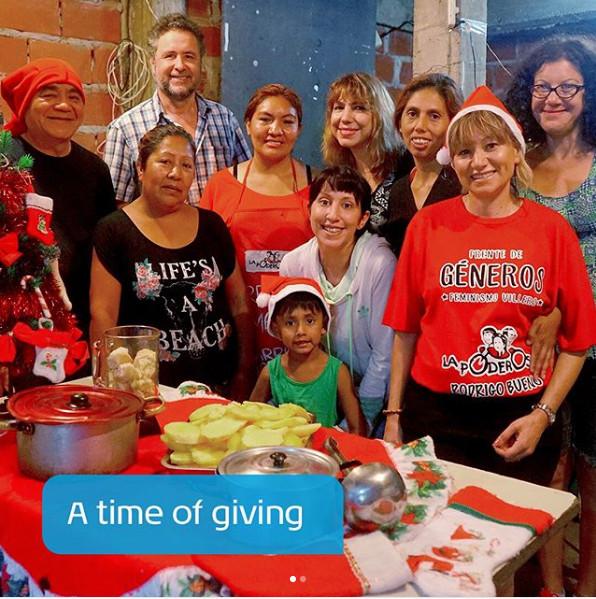 Valeria and Orlando volunteering in Argentina for Christmas