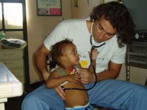 Medical volunteer in Brazil