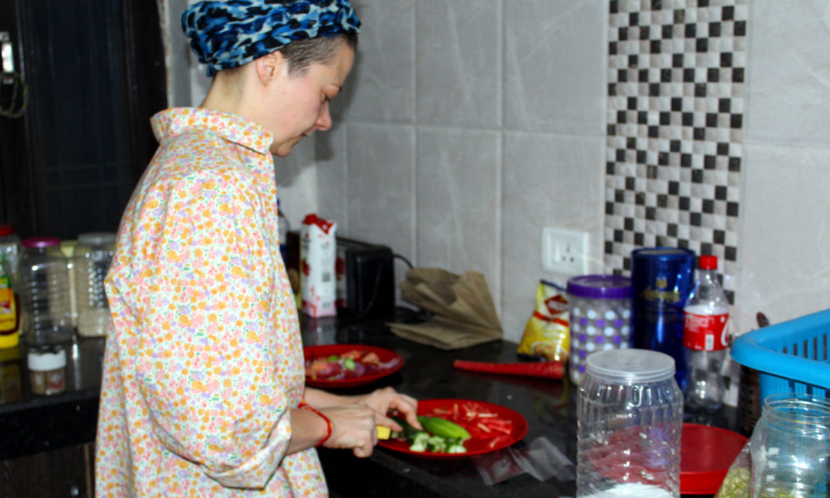 Odette cooking in India