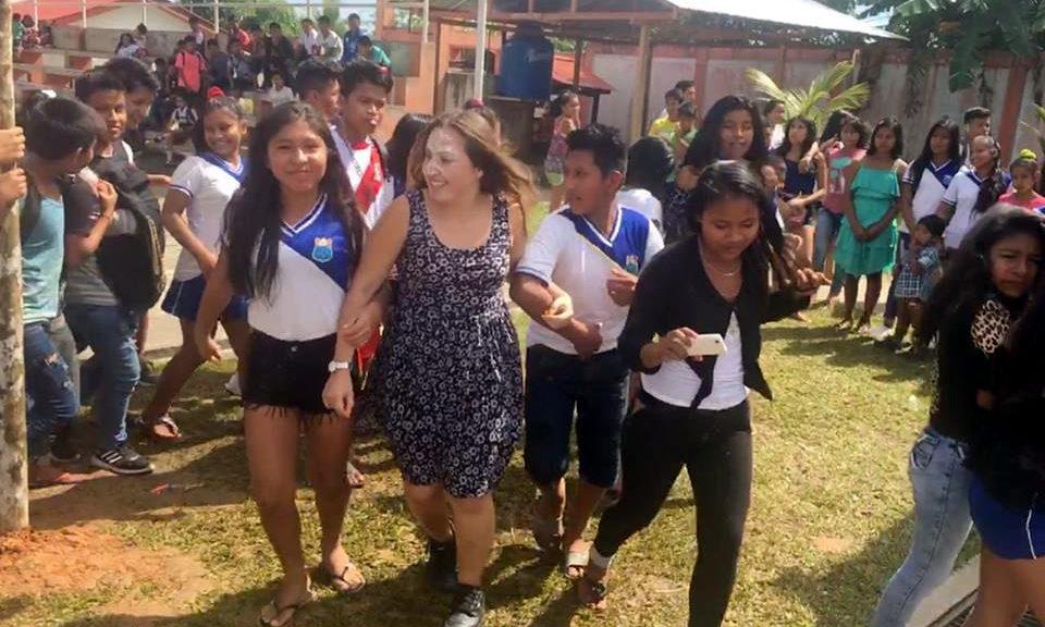 Gabriela celebrating San Juan Iquitos