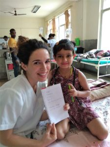 Rita at the Pediatric Clinic in Kathmandu