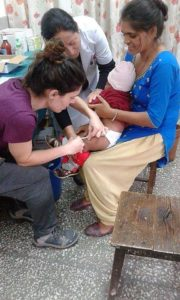 Rita, from Portugal, in action on her Medical volunteer program in Nepal!