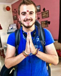 Joseph Guzman enjoyed volunteerin in India