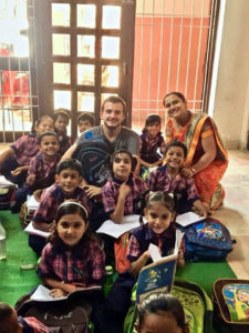 Joseph Guzman teaching children in India