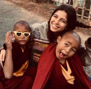 Ana Margarida Paixão Brazão no monastério budista