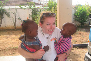 Childcare volunteer at an orphanage in Kenya