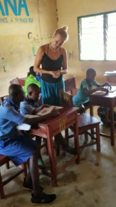 Mathilde Steiness Teaching in Ghana