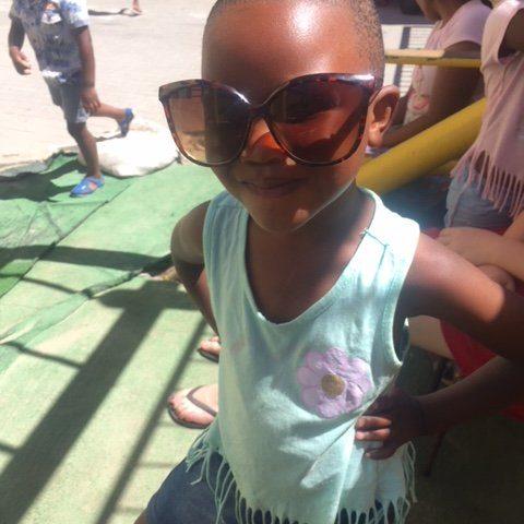 Trabalho voluntário com as Crianças em Cape Town