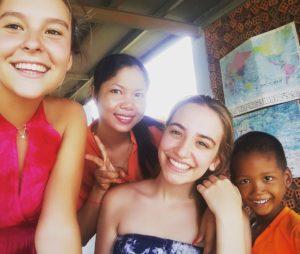 Inês Quelhas Lima aus Portugal als freiwillige Erzieherin im Kindergarten