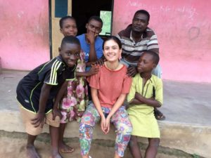 Beatriz from Portugal with the children