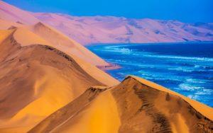 Beautiful landscape of the Namibian Desert