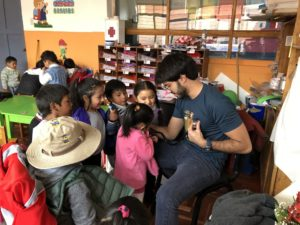 Felipe as a medical volunteer in Peru
