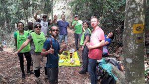 Lorenz arbeitetet als Freiwilliger in der Wiederauffrostung in Brasilien