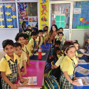 Natalia Villalobos Teaching Children in India