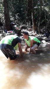 Rio Lacraide works as reforestation volunteer in Brazil