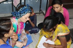 Frauenförderung Odette Crisp in Indien
