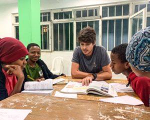 James Pia teaching in Ethiopia